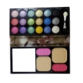 ShoppersCave 18 Color Eyeshadow And 4 Color Blusher